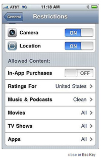 iPhone Parent Controls