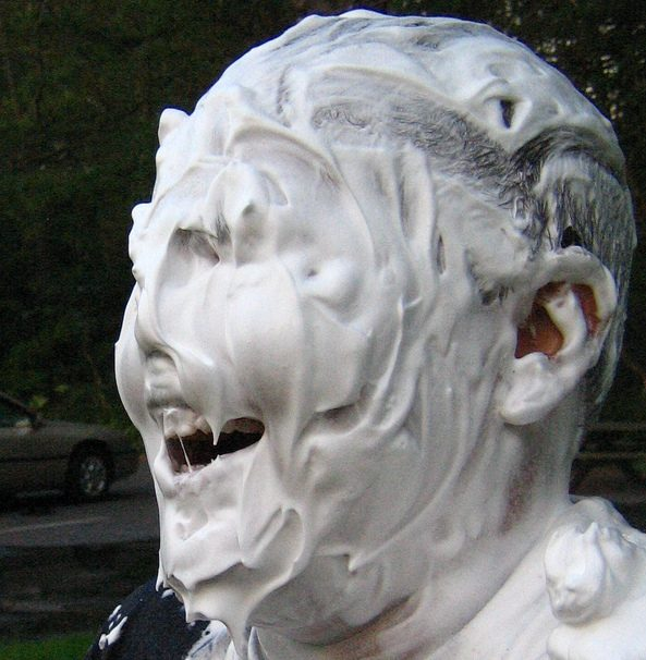 Shaving Cream Mummy Burial